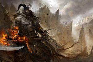 artwork fantasy art demon guild wars 2