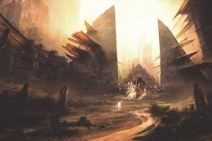 artwork fantasy art fantasy city