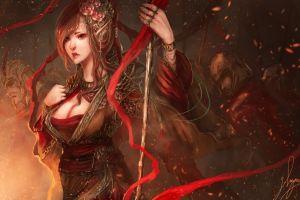 artwork fantasy girl fantasy art flower in hair