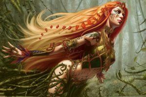 artwork fantasy girl women fantasy art long hair