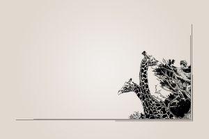 artwork giraffes animals