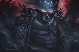 artwork glowing eyes fantasy art armored