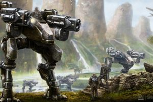 artwork grey goo robot