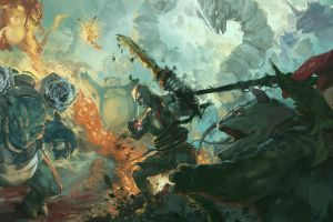 artwork pokémon god of war