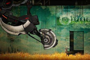 artwork portal (game) humor digital art portal 2 deer glados aperture laboratories video games valve valve corporation aperture