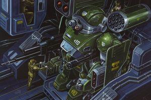 artwork robot science fiction