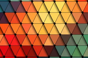 artwork triangle abstract colorful