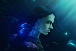 artwork underwater fantasy art fish fantasy girl