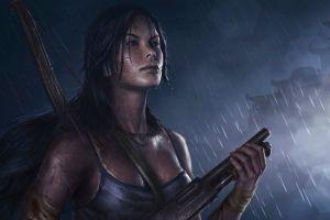 artwork video game characters lara croft video games tomb raider video game girls fan art