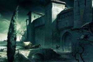 artwork video games assassin's creed castle gates