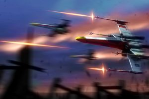 artwork x-wing star wars