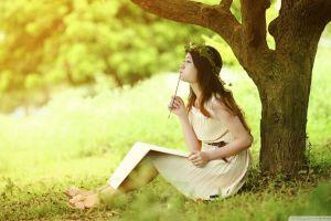 asian brunette dress trees