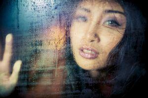 asian juicy lips water drops women