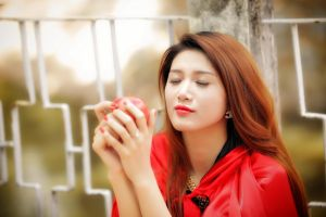 asian model women apples