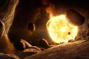 asteroid digital art space