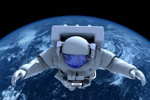 astronaut space earth