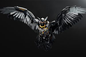 asus pc gaming technology simple background owl