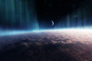 atmosphere digital art space space art planet