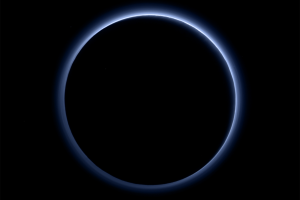 atmosphere solar system backlighting astronomy space pluto