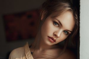 auburn hair blue eyes georgy chernyadyev hair   face women anastasia scheglova