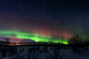 aurorae nature night stars