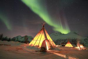aurorae nordic landscapes tent norway skyscape