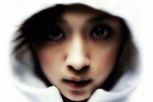 ayumi hamasaki women eyes asian blurred hoods