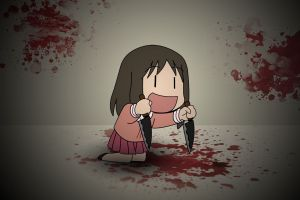 azumanga daioh anime girls blood knife anime