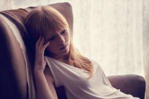 bangs women redhead