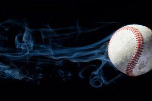 baseball ball smoke photo manipulation digital art black background