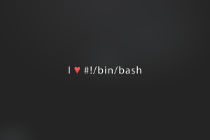 bash simple heart (design) simple background