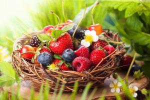 baskets food fruit plants macro berries