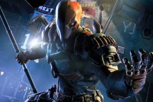batman: arkham origins sticks armor video games dc comics angry deathstroke