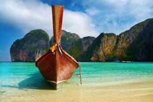 beach boat rock