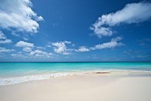 beach coast tropical landscape sea horizon