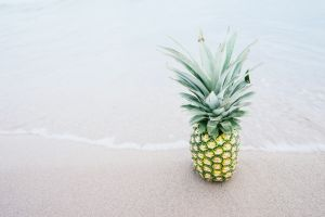 beach fruit pineapples food
