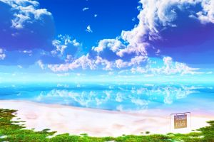 beach nature brightness eden