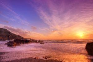beach nature sky landscape sea sunlight