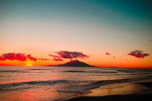 beach sea clouds landscape