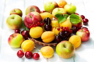 berries cherries food fruit apples