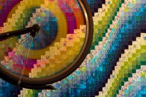 bicycle tires colorful abstract