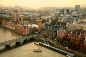big ben london tilt shift cityscape westminster