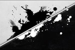 black artwork grunge lines paint splatter digital art white abstract monochrome