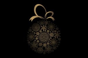 black background christmas vector