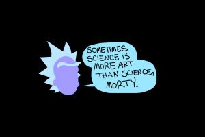 black background simple background rick and morty science quote rick sanchez