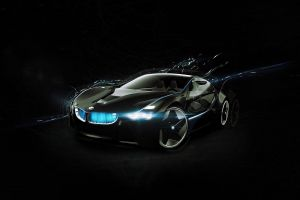 black background vehicle bmw digital art car simple background