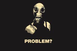 black minimalism gas masks