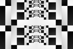 black shapes abstract bit white square