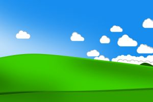 bliss minimalism clouds windows xp valley
