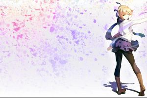 blonde anime girls saber fate series